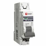 Автоматический выключатель ВА47-63 1-п. 63А(C) PROxima  EKF (mcb4763-1-63C-pro)