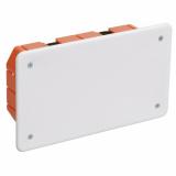 Коробка КМ 41026 172х96х45мм (г/к)  с саморезами, пластиковые лапки, с крышкой IEK