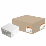 Распаячная коробка ОП 100х100х50мм, крышка, IP54, 8вх. TDM