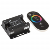 RGB Контроллер с ПДУ радио (серый) 3 канала 12В, 10А, 360Вт IEK