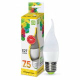Лампа светодиодная LED-СВЕЧА на ветру-standard 7.5 Вт 160-260В Е27 3000К 675Лм ASD