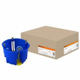 Установочная коробка СП D68х45мм, саморезы, пл.лапки, синяя, IP20 TDM г/к