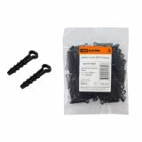 Дюбель-хомут ДХП-8 для плоского кабеля 5-8мм нейлон черный (100шт) TDM