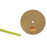 Термоусаживаемая трубка ТУТнг 8/4 желто-зеленая (100м/ролл) TDM