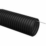 Труба гофр.ПНД d 40 с зондом (15 м) IEK черный