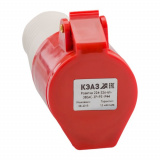 Розетка 224-32А-6h-380AC-3P+PE-IP44 КЭАЗ