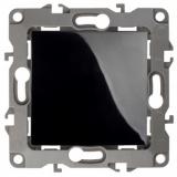 ЭРА Выключатель, 10АХ-250В, без м.лапок, Эра12, чёрный 12-1001-06