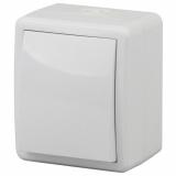 ЭРА Выключатель IP54, 10АХ-250В, ОУ, Эра Эксперт, белый 11-1401-01