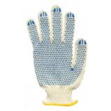 Перчатки 10класс (5) с ПВХ БЕЛЫЕ