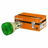 Лампа ENR-22 сигнальная d22мм зеленый неон/230В цилиндр TDM
