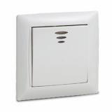 Выключатель одноклавишный с подсветкой VALENZO белый 6121 IN HOME