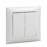 Выключатель двухклавишный VALENZO белый 6023 IN HOME
