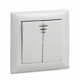 Выключатель двухклавишный с подсветкой VALENZO белый 6123 IN HOME
