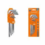 """Набор ключей """"HEX"""" 9 шт.: 1.5-10 мм, длинные с шаром, (держатель в блистере), CR-V сталь """"Алмаз"""" TDМ TDM"""