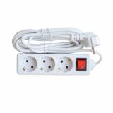 Удлинитель 3GS-5-SMART 3-х местный c выключателем 10А с заземлением 5м 8435 IN HOME