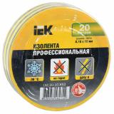 Изолента 0,18х19 мм желто-зеленая 20 метров IEK