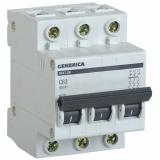 Автоматический выключатель ВА47-29 3Р 63А 4,5кА х-ка С GENERICA