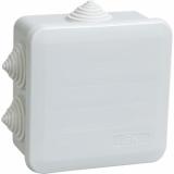 Коробка распаячная КМ41255 для о/п 100х100х50мм IP44 (RAL7035, 6 гермовводов, защелкивающаяся крышка) IEK