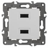 Эл/ус ЭРА Устройство зарядное USB, 230В/5В-2100мА, IP20, Эра Elegance, белый 14-4110-01