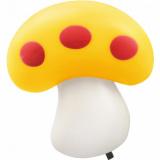 Ночник светодиодный NLA 03-MY ГРИБ жёлтый с выключателем 230В  IN HOME
