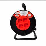 Удлинитель на катушке RN4-0630-SMART с термозащитой четырехместный без заземления 6А 30м 8743 IN HOM