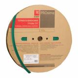Термоусаживаемая трубка ТУТ нг 30/15 зелёная рулон EKF PROxima