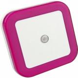 Ночник светодиодный NLE 03-SP-DS КВАДРАТ розовый с датчиком освещения 230В  IN HOME