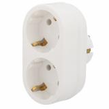 Двойник электрический 16 А с заземлением белый REXANT 11-1075