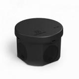 Коробка распределительная 60-0110-9005 для прямого монтажа двухкомпонентная безгалогенная (HF) черная 70х50