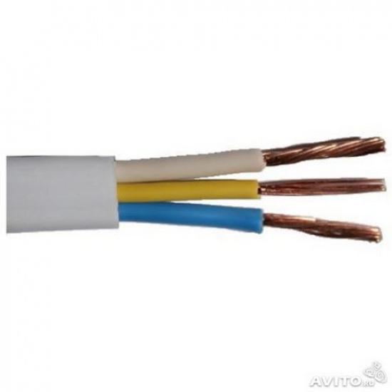 Провод ПУГНП (ПУГВВ) 3х2,5 белый - 1