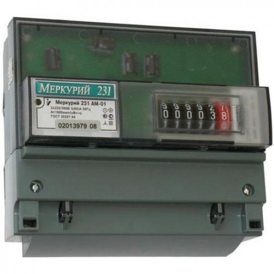 Электросчетчик Меркурий-231 АМ-01 3*230/400 (5-60А) кл.1 1тариф. - 1