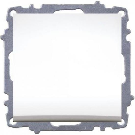 Выключатель 1 кл. белый б/р ZENA 609-010200-200 - 1