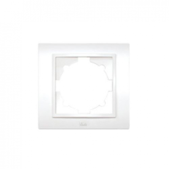 Рамка 1 постовая белая ZENA 608-010200-271 - 1
