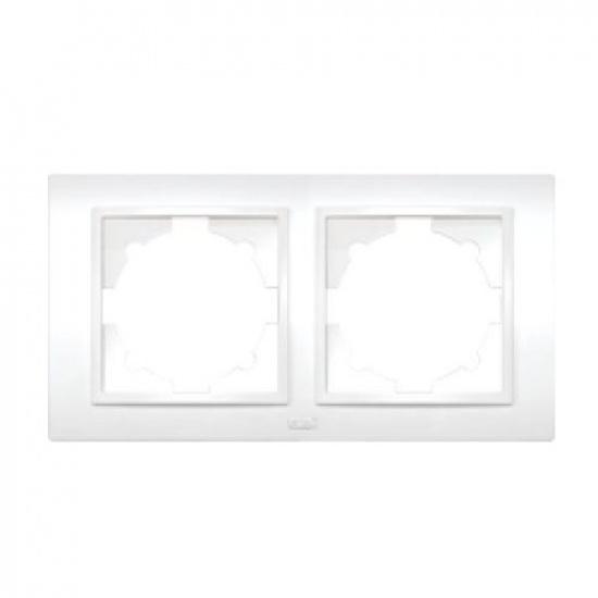 Рамка 2 постовая белая ZENA 500-010200-226 - 1