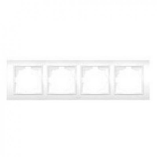 Рамка 4 постовая белая ZENA 500-010200-228 - 1
