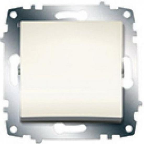 Выключатель 1 кл. проходной крем. б/р ZENA 609-010300-209 - 1