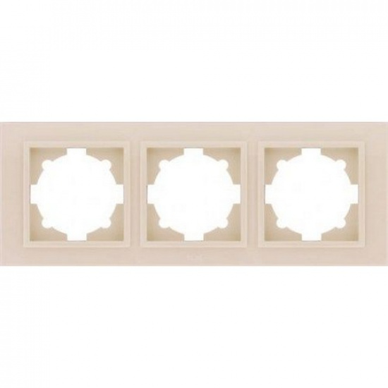 Рамка 3 постовая крем. ZENA 500-010300-227 - 1