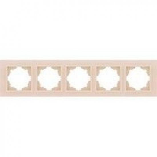 Рамка 5 постовая крем. ZENA 500-010300-250 - 1