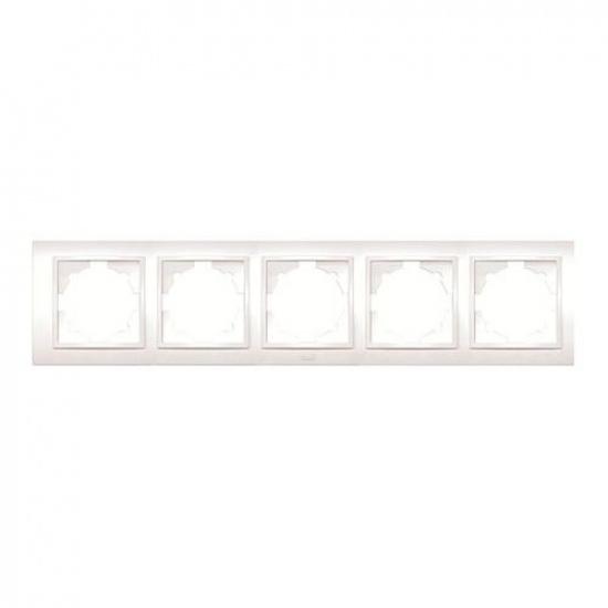 Рамка 5 постовая белая ZENA 500-010200-250 - 1