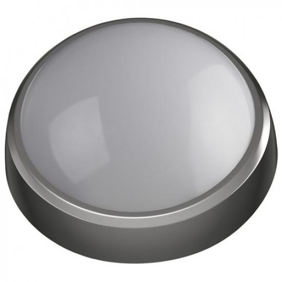 Светодиодный светильник SPB-1-08 (B) IP54 8Вт 4000К 640Лм круг 180х75 Серый ЭРА - 1