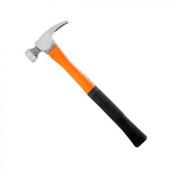 Молоток - гвоздодёр, 450гр., фиберглассовая двухкомпонентная ручка, с магнитом. - 1